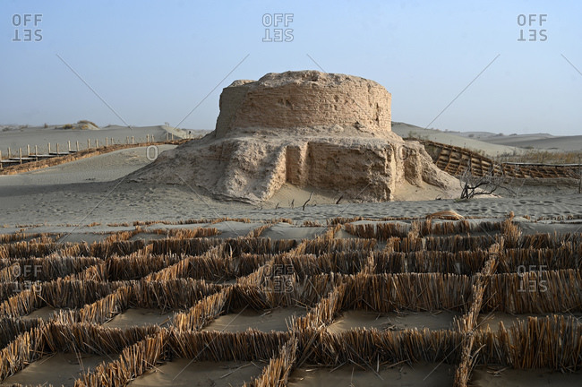 Rawak Buddhist stupa, 4th century, discovered by Aurel Stein in 1901, Hotan, Xinjiang, China, Asia