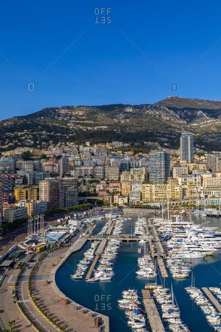 January 14, 2020: Port Hercules Harbor, Monte Carlo, Monaco, Mediterranean, Europe