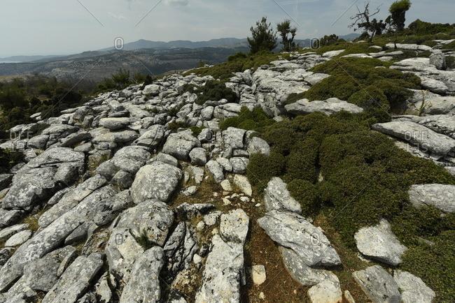 Marble landscape of Thassos, Greek Islands, Greece, Europe