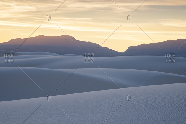 Abstract landscape of White Sands National Park, New Mexico, United States of America, North America