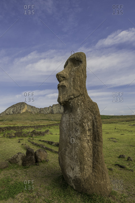 Easter Island heads, Easter Island (Rapa Nui), UNESCO World Heritage Site, Chile, South America