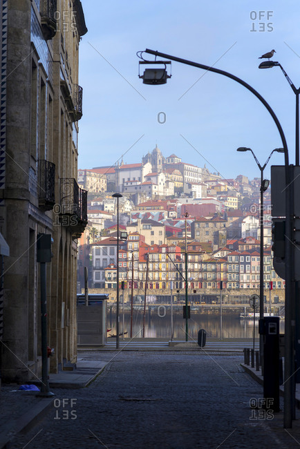 March 4, 2018: Porto, Portugal Old City Skyline on the Douro River