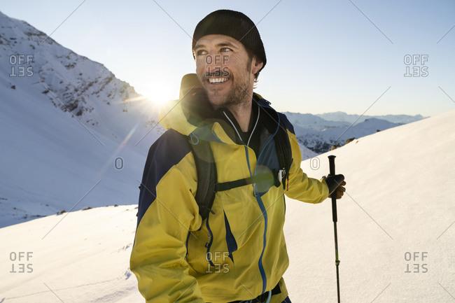 Portrait of man during ski tour- Lenzerheide- Grisons- Switzerland