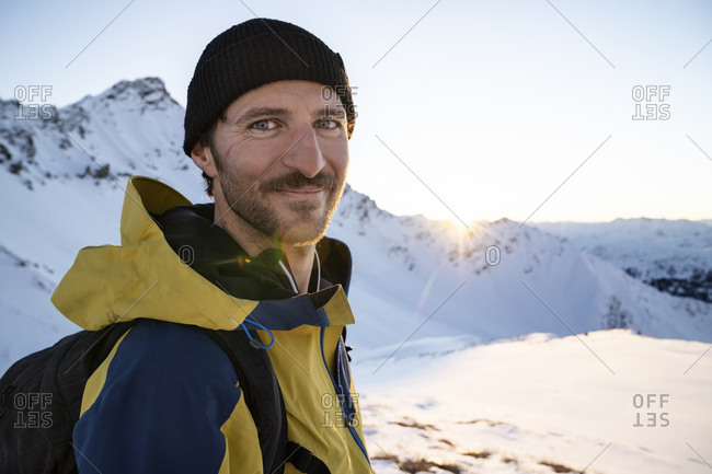 Portrait of man during ski tour- Lenzerheide- Grisons- Switzerland