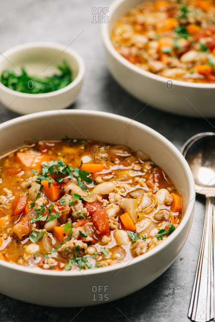 Italian sausage and white bean soup