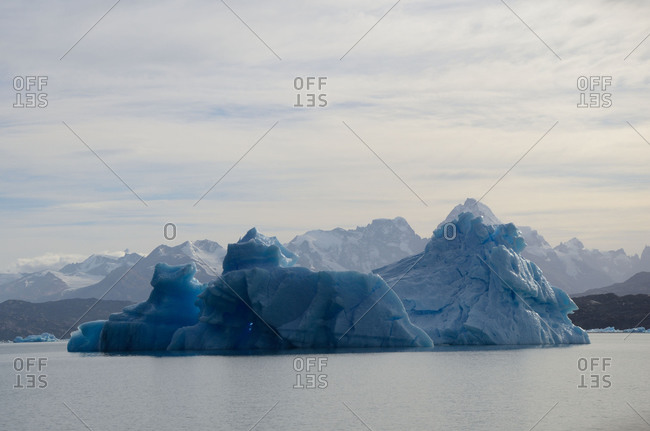 Icebergs on Lake Argentino, a sunny autumn afternoon, Santa Cruz Province, Argentino. 2