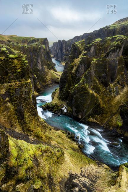 The beautiful Fjardargljufur canyon, Iceland