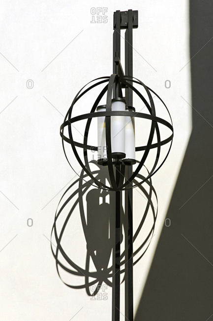 Black rustic orb light fixture