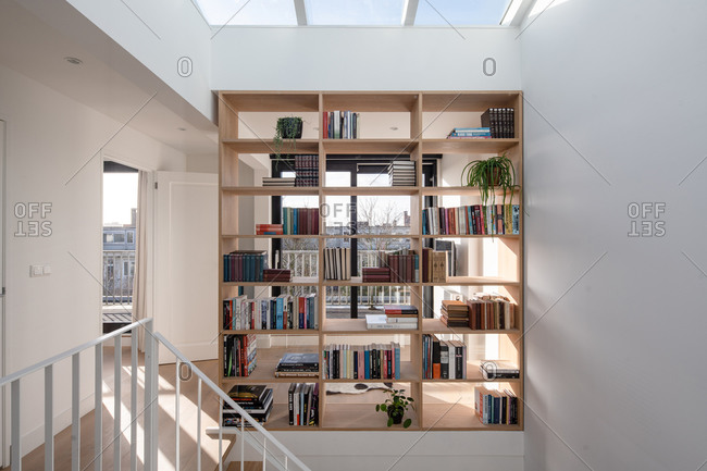 February 5, 2020: Interior of a modern design apartment in Amsterdam, The Netherlands.