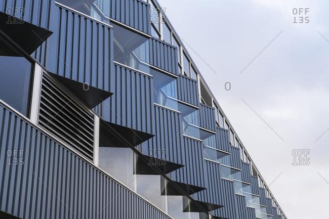 Exterior of modern apartment building