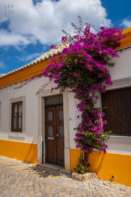 Picturesque street in Tavira, Algarve, Portugal