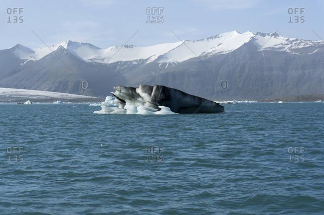 Icebergs and Glacier, Jokulsarlon Lagoon, Iceland
