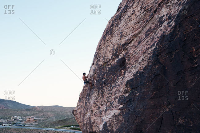 Exploring and climbing in Red Rock National Conservation Area, Nevada