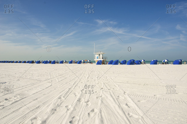 White sand on a beach in Florida
