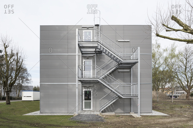 Modern architecture of a modular hospital in Ghent, Belgium