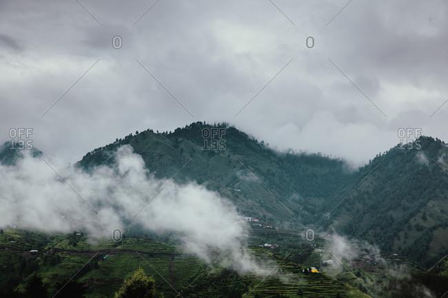 Fog in the Himalayas, Rohru, Shimla, Himachal Pradesh