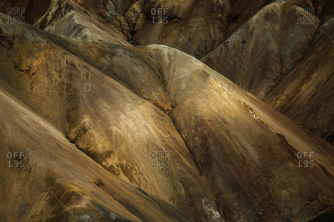 Rhyolite mountains in the light, Fjallabak