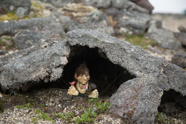 Troll in Lava Cave at Snaefellsjokull