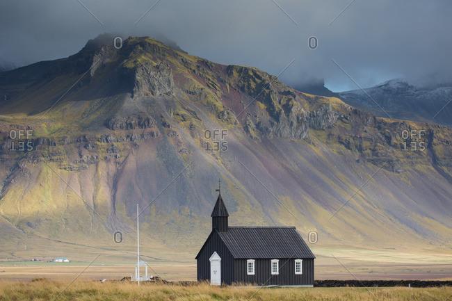 Black church at Budir, Snaefellsnes peninsula