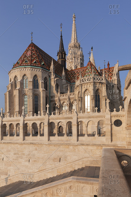 Matthias Church, Fisherman's Bastion at Buda Castle Hill, Budapest, Hungary