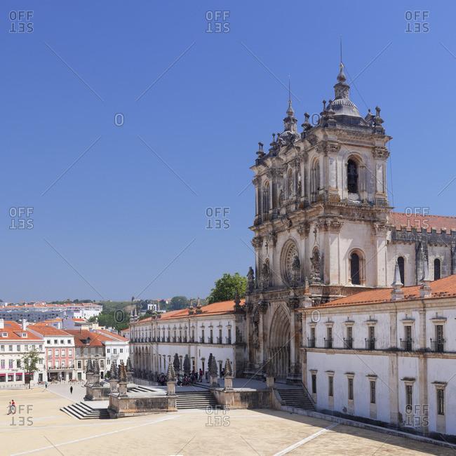 June 14, 2017: Mosteiro Santa Maria de Alcobaca Monastery, UNESCO World Heritage Site, Alcobaca, Estremadura, Leira, Portugal