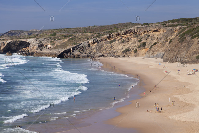 Praia da Monte Clerigo, Aljezur, Costa Vicentina, west coast, Algarve, Portugal