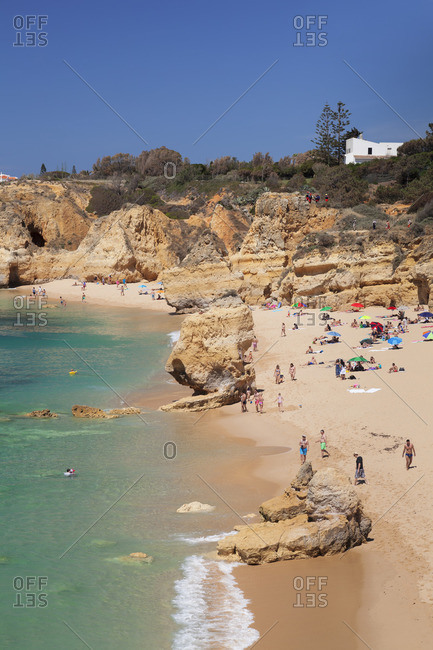 June 4, 2017: Praia do Sao Rafael beach, at Albufeira, Algarve, Portugal