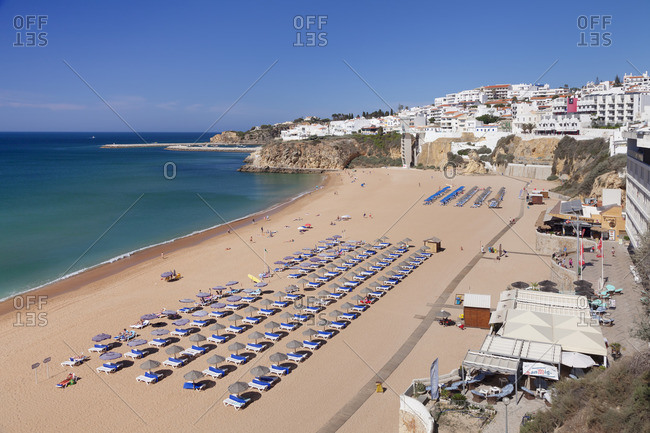 June 4, 2017: Praia do Peneco beach, Albufeira, Algarve, Portugal
