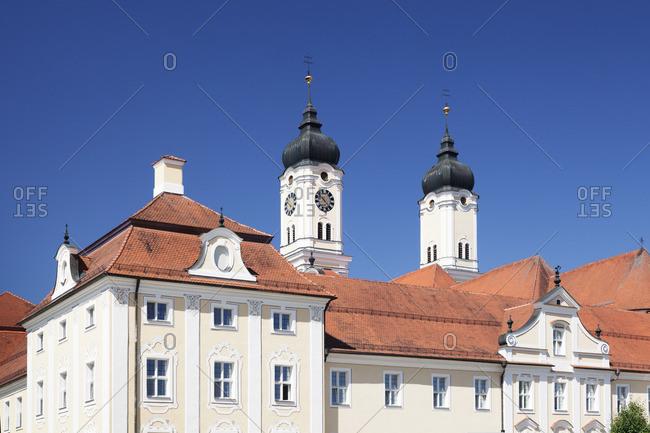 Church of the Assumption of Mary at Roggenburg Abbey, Neu-Ulm district, Swabia, Bavaria, Germany