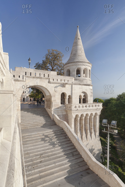 Fisherman's Bastion at the castle hill of Buda, Budapest, Hungary