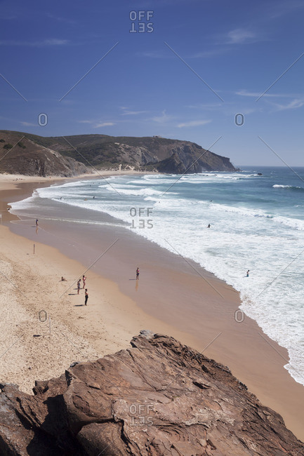 Praia do Amado beach, Carrapateira, Costa Vicentina, west coast, Algarve, Portugal