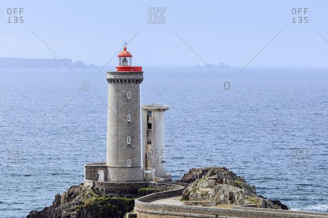 Europe, France, Brittany, Plouzane, view of the lighthouse 'Phare du Petit Minou'