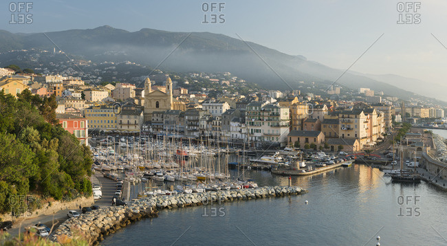 June 2, 2017: View of the port of Bastia, Haute Corse, Corsica, France