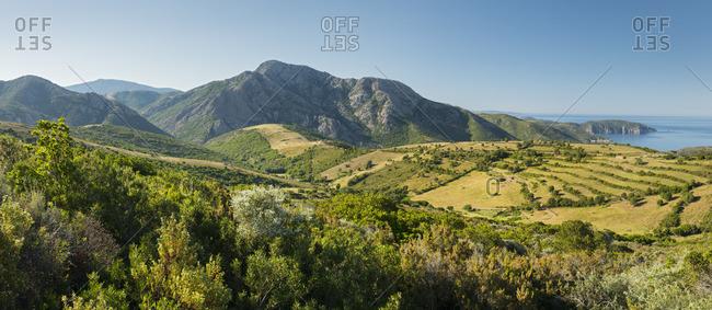 Landscape at D'Arone, Corsica, France