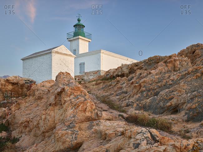 Lighthouse at L'Ile Rousse, Corsica, France