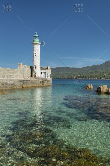 Lighthouse of Propriano, Corse du Sud, Corsica, France