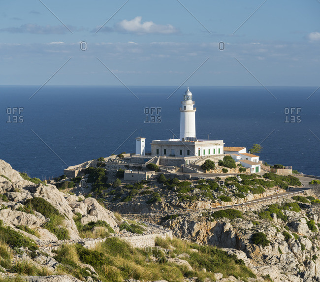 Lighthouse at Cap Formentor, Mallorca, Balearic Islands, Spain