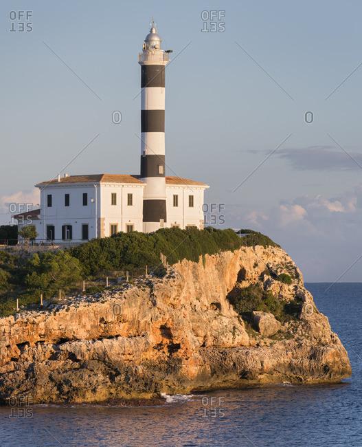 Lighthouse, Porto Colom, Mallorca, Balearic Islands, Spain
