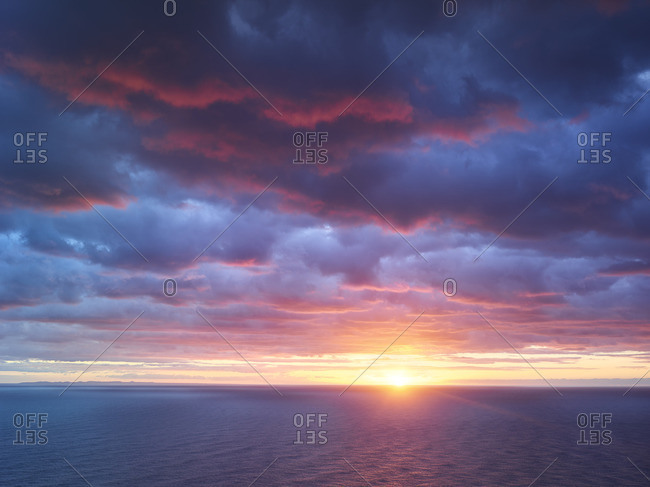 Sunrise over the Mediterranean Sea, Mallorca, Balearic islands, Spain