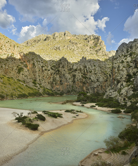 Torrent de Pareis, Sa Calobra, Tramuntana, Mallorca, Balearic Islands, Spain
