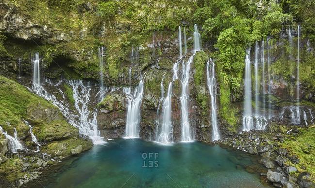 Waterfall Cascade de la Grande Ravine, Langevin, Reunion, France