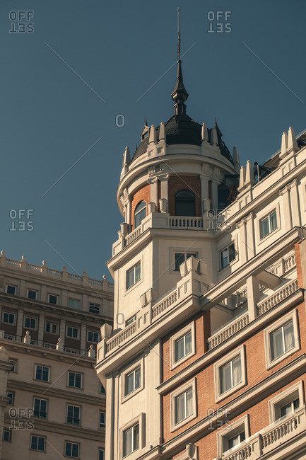 On the roofs of Madrid, Spain, Europe