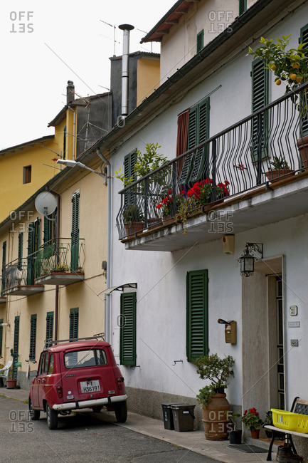 June 10, 2015: House, Car, Tuscany, Italy