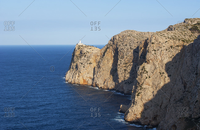 Spain, Balearic Islands, Mallorca, Pollenca, Formentor peninsula, Cap de Formentower, hiking trail to Cala Murta, view to Cap Formentor