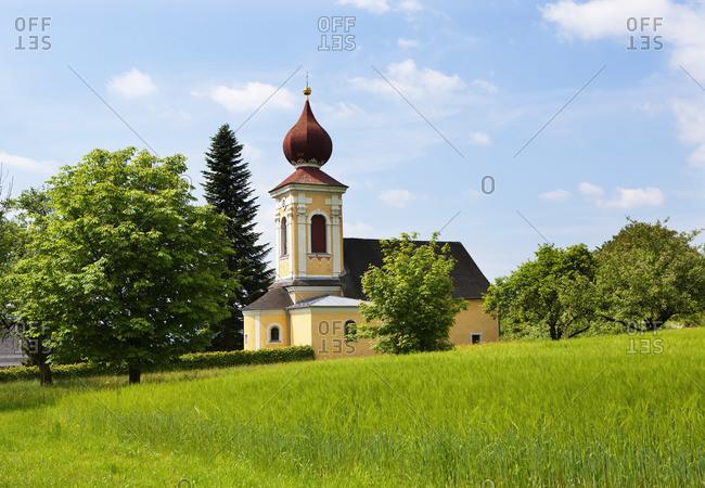 Austria, Upper Austria, Hausruckviertel, Pfaffing, catholic succursal church holy Margaretha