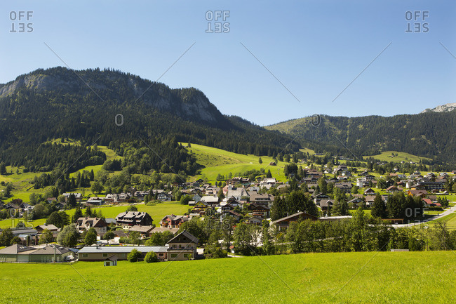 Austria, Styria, Salzkammergut, Styrian Salzkammergut, Ausseerland, Tauplitz with a view to the Tauplitzalm,