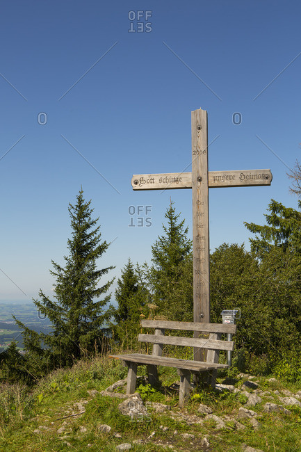 September 4, 2017: Austria, Salzkammergut, Fuschl am See, Fuschlsee, Filbling, summit cross