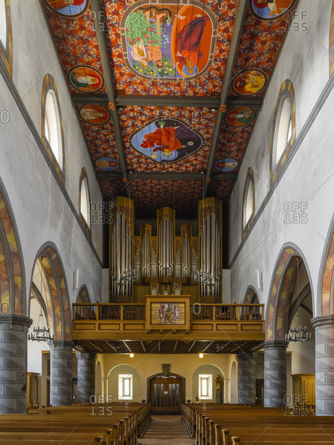 May 21, 2018: Organ gallery of St. Nicholas Church in Wil, St. Gallen