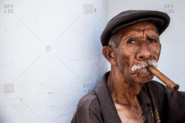 Man with cigar, portrait, Vinales, Cuba