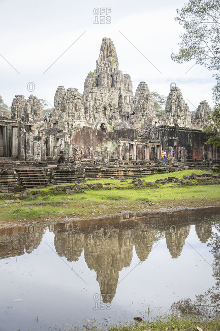 Siem Reap, Angkor, Temple Bayon, a temple overrun by tourists